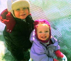 Child Care Photo - 2 toddlers outside in snow
