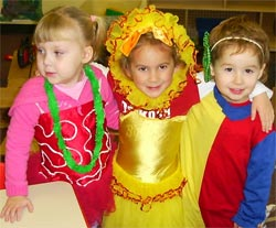 Maine Toddler Care - Three of the children all dressed up